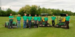 Das Team der Grünflächenpfleger. Unsere Gartengestalter kümmern sich um die Pflege der Grünanlagen