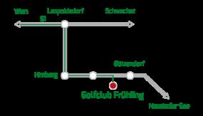 Anfahrtsplan GC Frühling